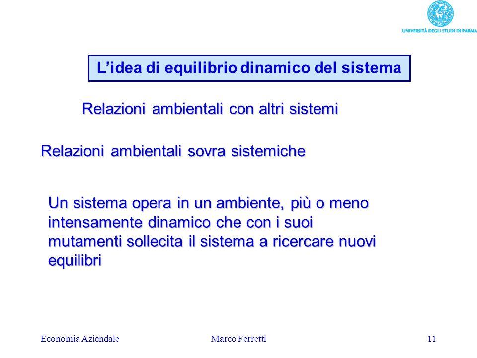 L'idea di equilibrio dinamico del sistema