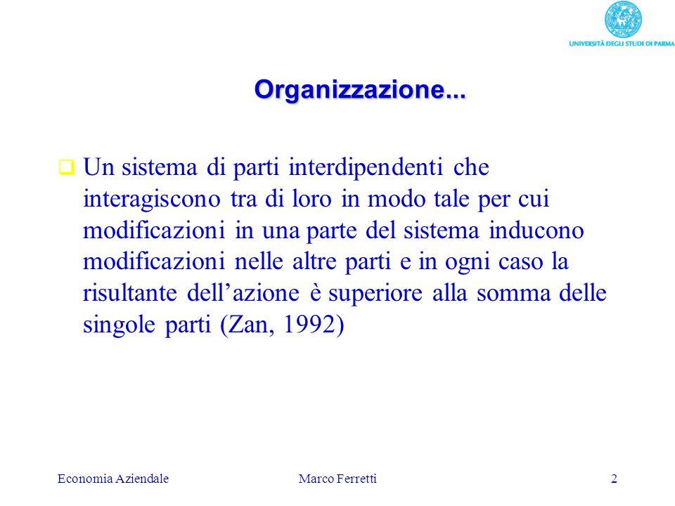 Organizzazione...