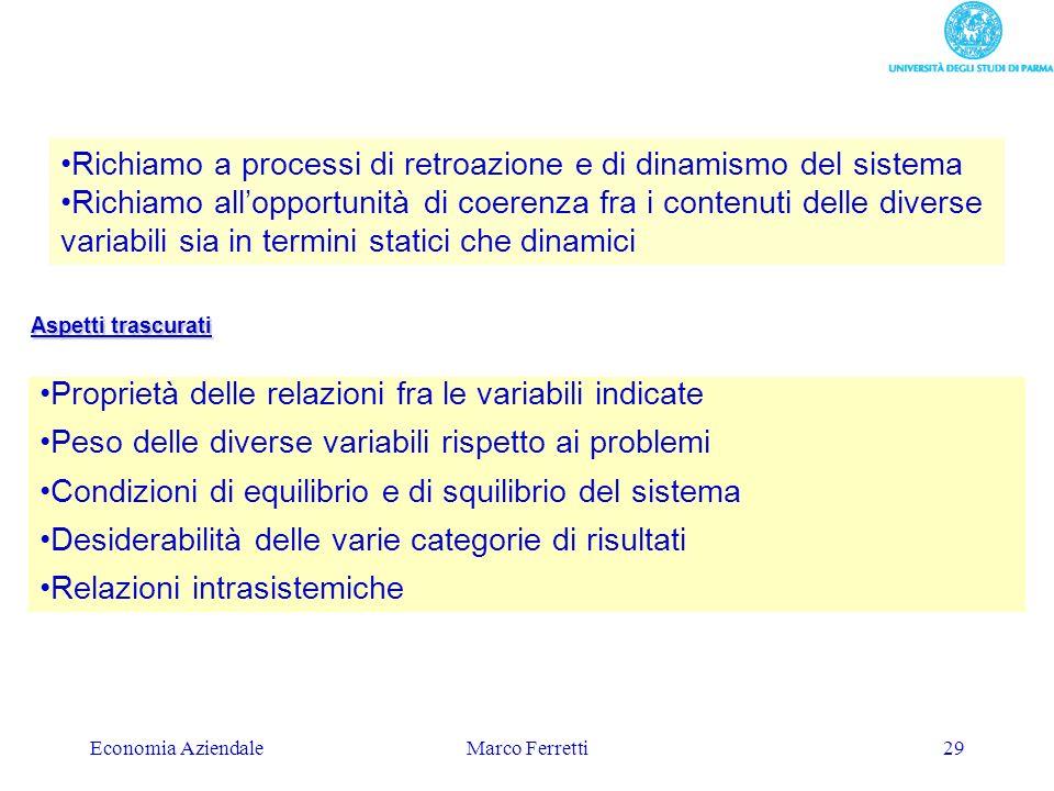 Richiamo a processi di retroazione e di dinamismo del sistema