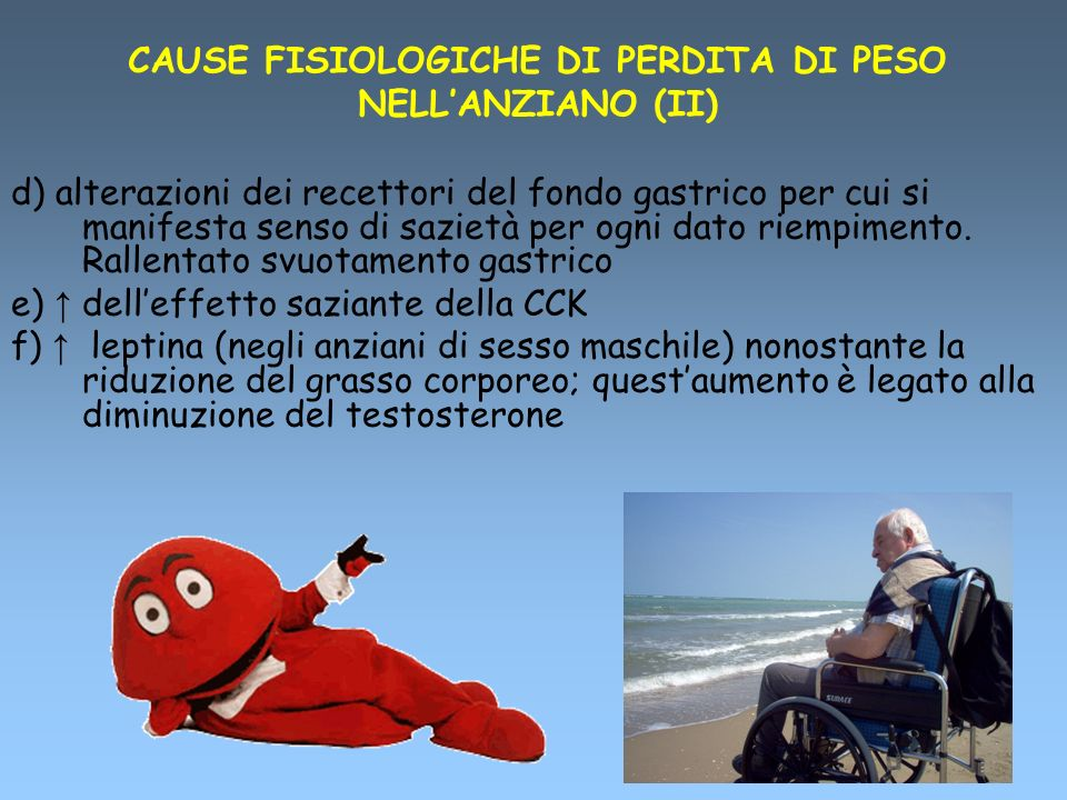 CAUSE FISIOLOGICHE DI PERDITA DI PESO NELL'ANZIANO (II)