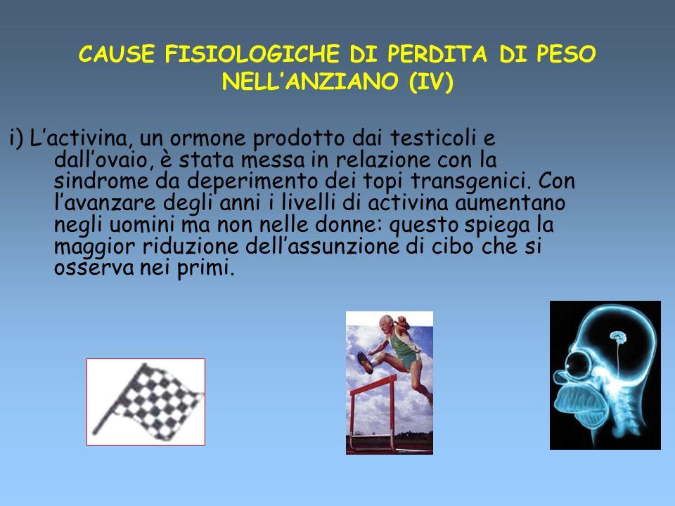CAUSE FISIOLOGICHE DI PERDITA DI PESO NELL'ANZIANO (IV)