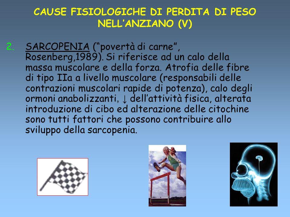CAUSE FISIOLOGICHE DI PERDITA DI PESO NELL'ANZIANO (V)