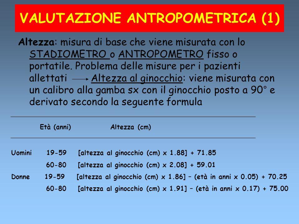 VALUTAZIONE ANTROPOMETRICA (1)