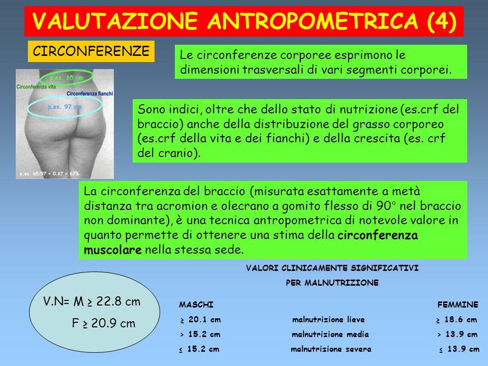 VALUTAZIONE ANTROPOMETRICA (4)
