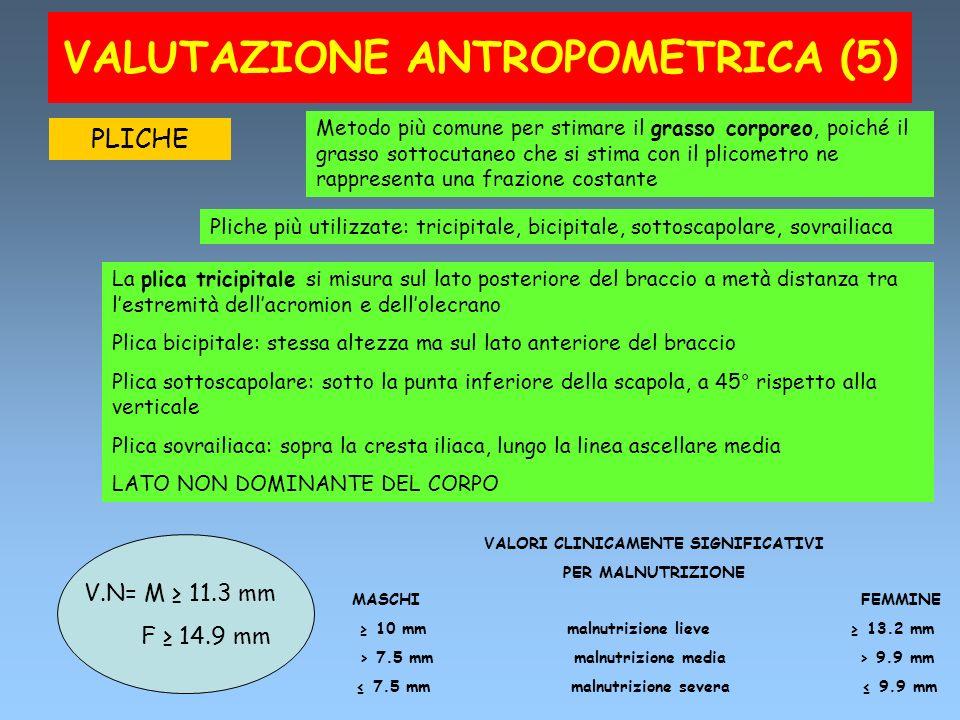 VALUTAZIONE ANTROPOMETRICA (5)
