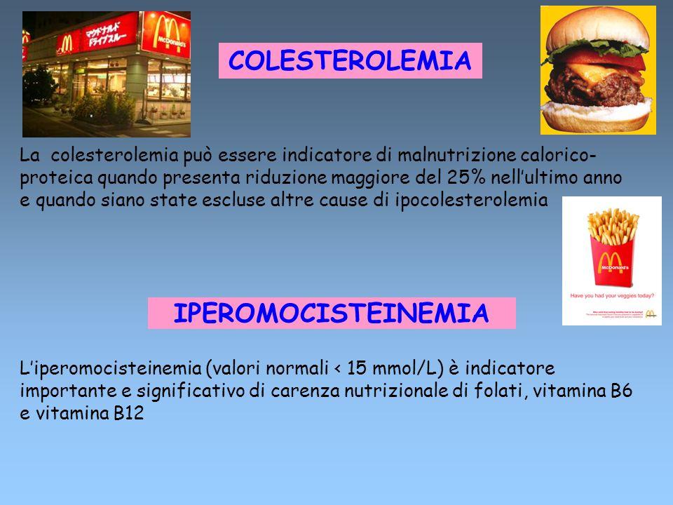 COLESTEROLEMIA IPEROMOCISTEINEMIA