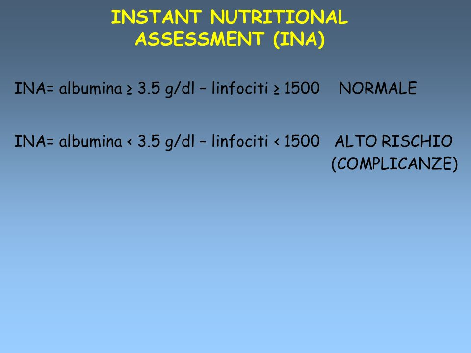 INSTANT NUTRITIONAL ASSESSMENT (INA)