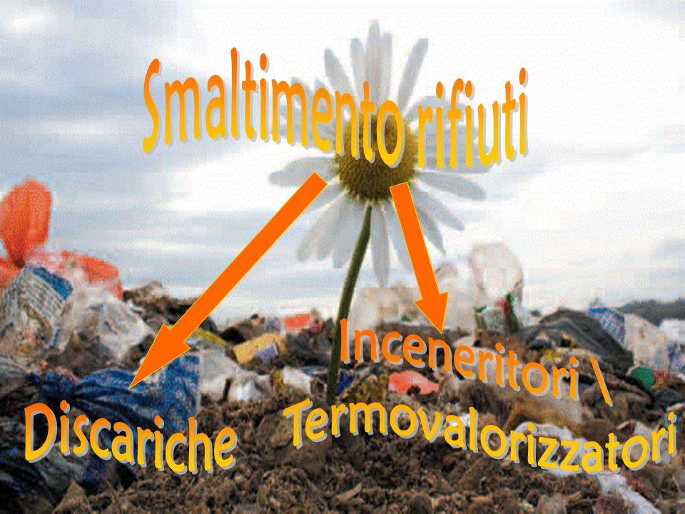 Smaltimento rifiuti Inceneritori \ Termovalorizzatori Discariche