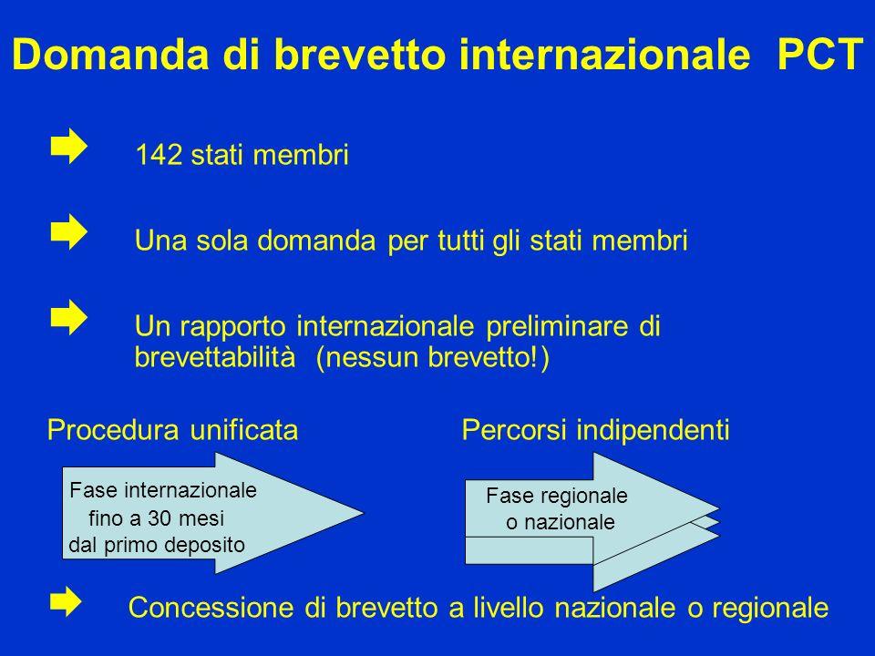 Domanda di brevetto internazionale PCT