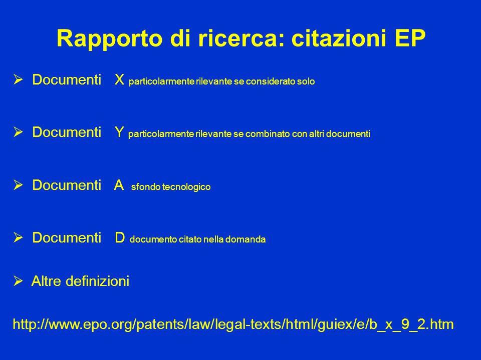 Rapporto di ricerca: citazioni EP