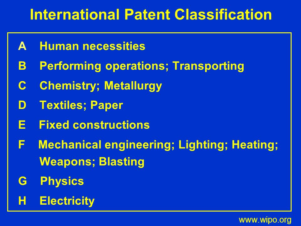 International Patent Classification