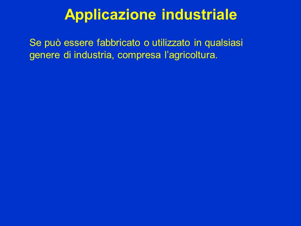 Applicazione industriale
