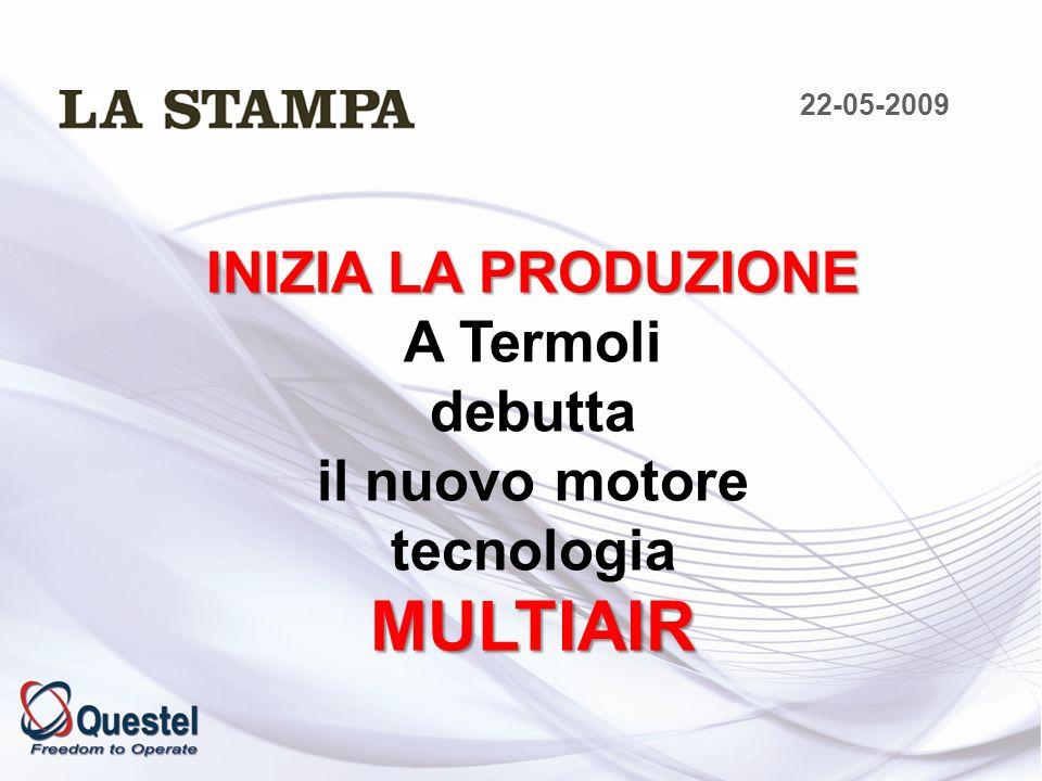 MULTIAIR INIZIA LA PRODUZIONE A Termoli debutta il nuovo motore