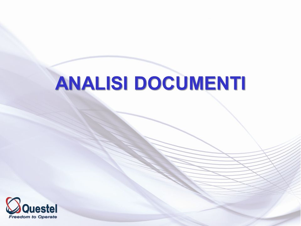 ANALISI DOCUMENTI