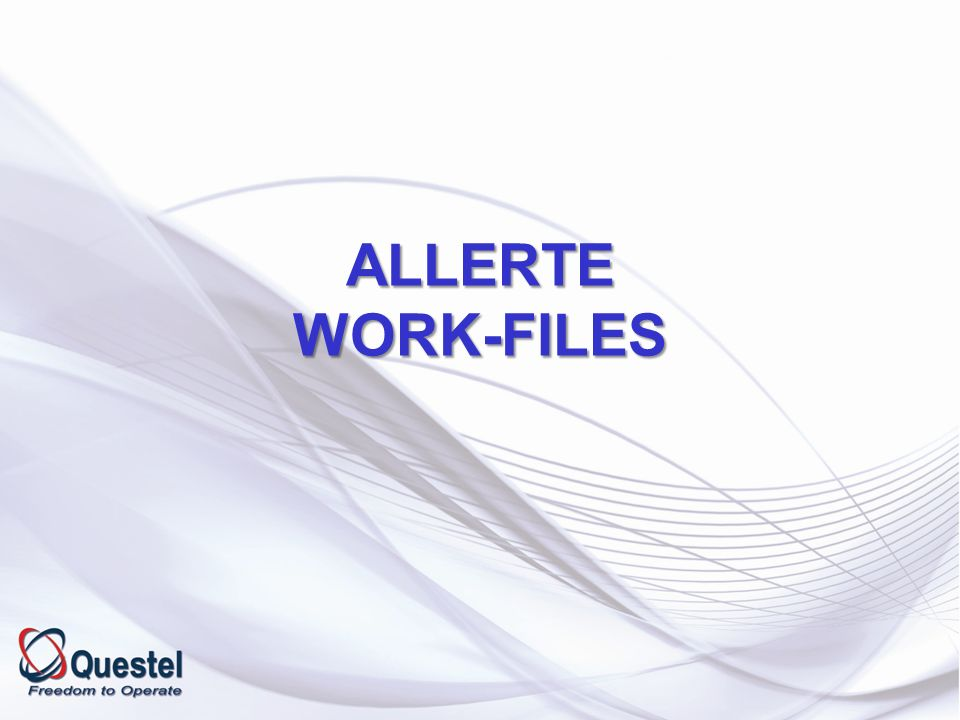 ALLERTE WORK-FILES