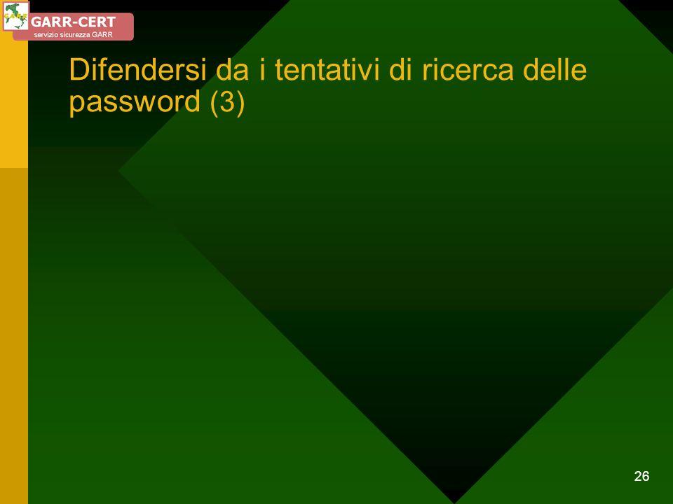 Difendersi da i tentativi di ricerca delle password (3)