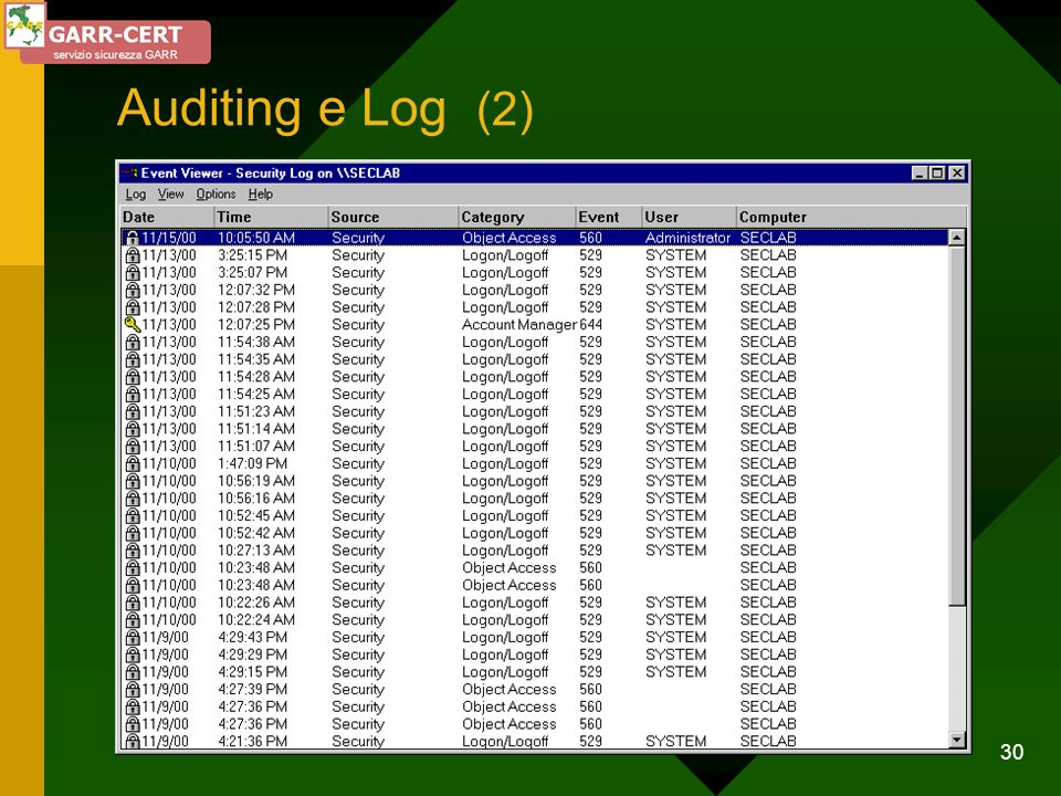 Auditing e Log (2)
