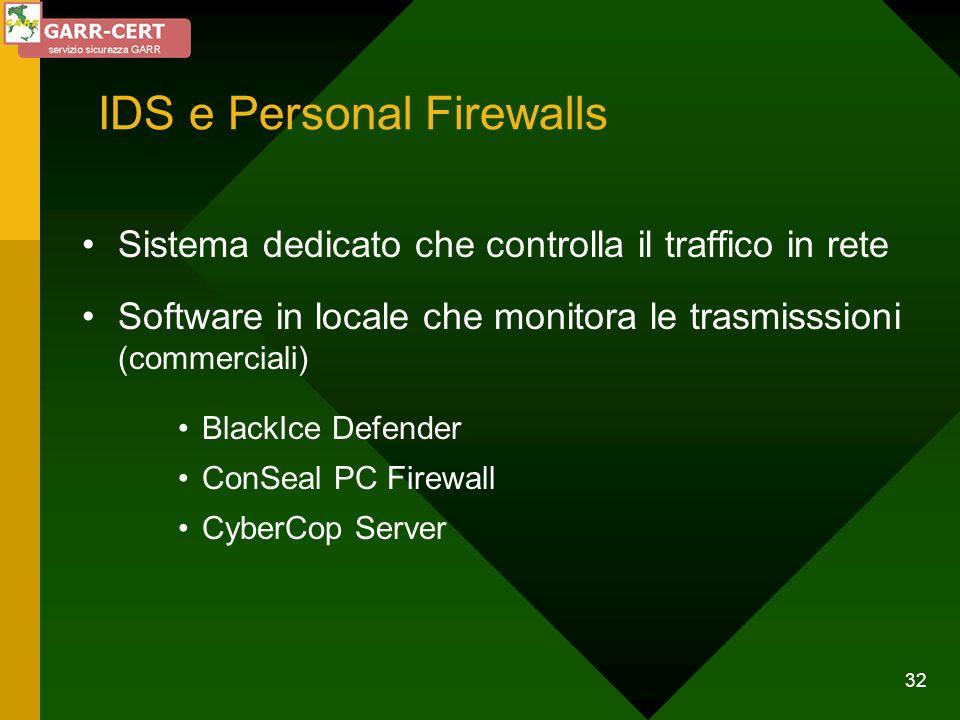 IDS e Personal Firewalls