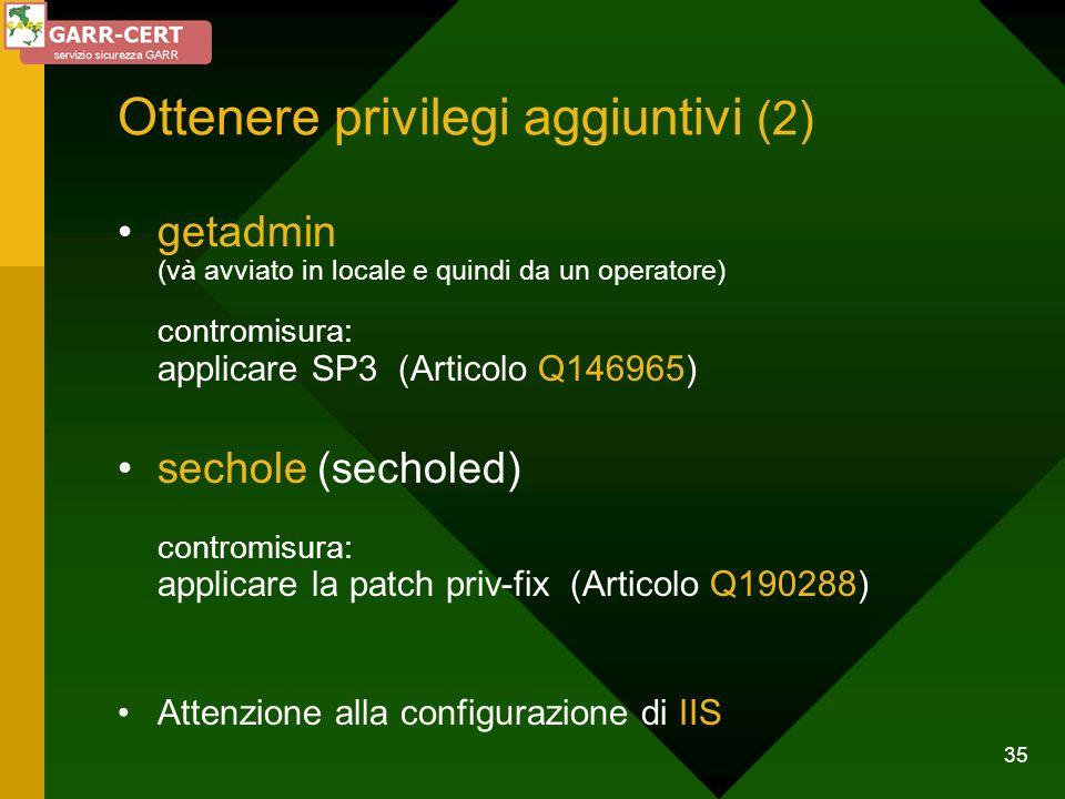 Ottenere privilegi aggiuntivi (2)