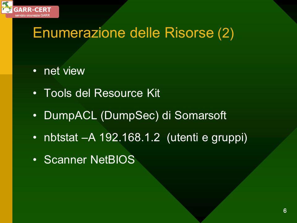 Enumerazione delle Risorse (2)