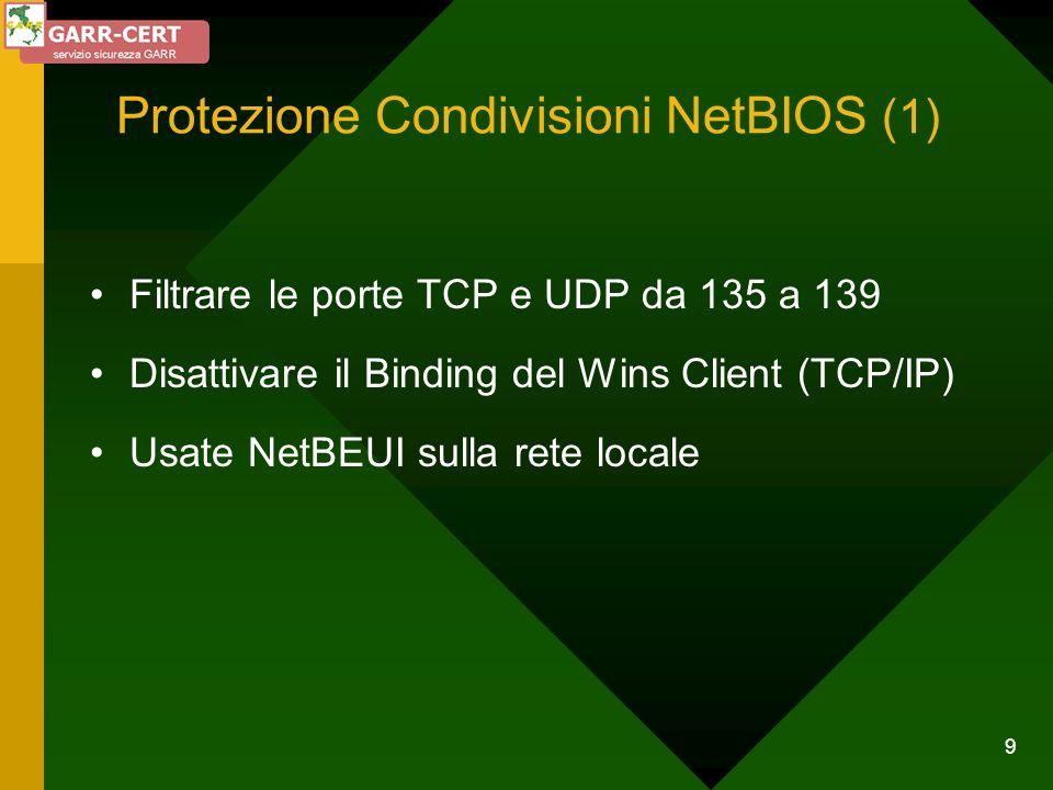 Protezione Condivisioni NetBIOS (1)