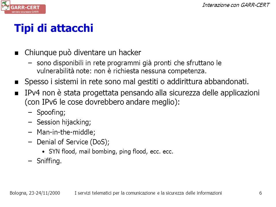 Tipi di attacchi Chiunque può diventare un hacker