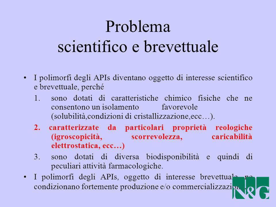 Problema scientifico e brevettuale