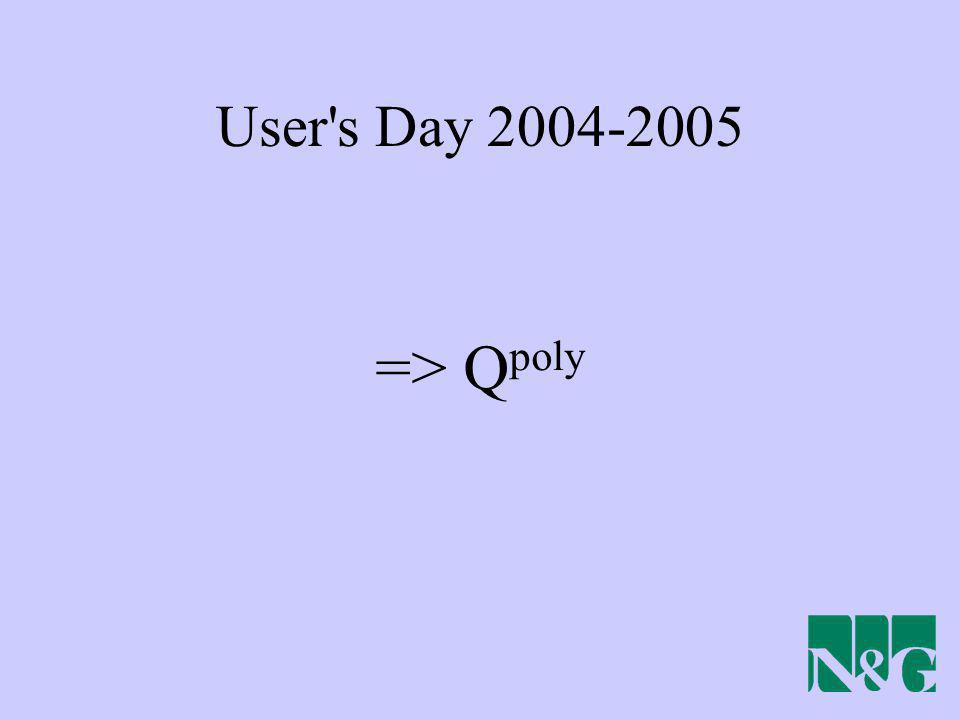 User s Day 2004-2005 => Qpoly