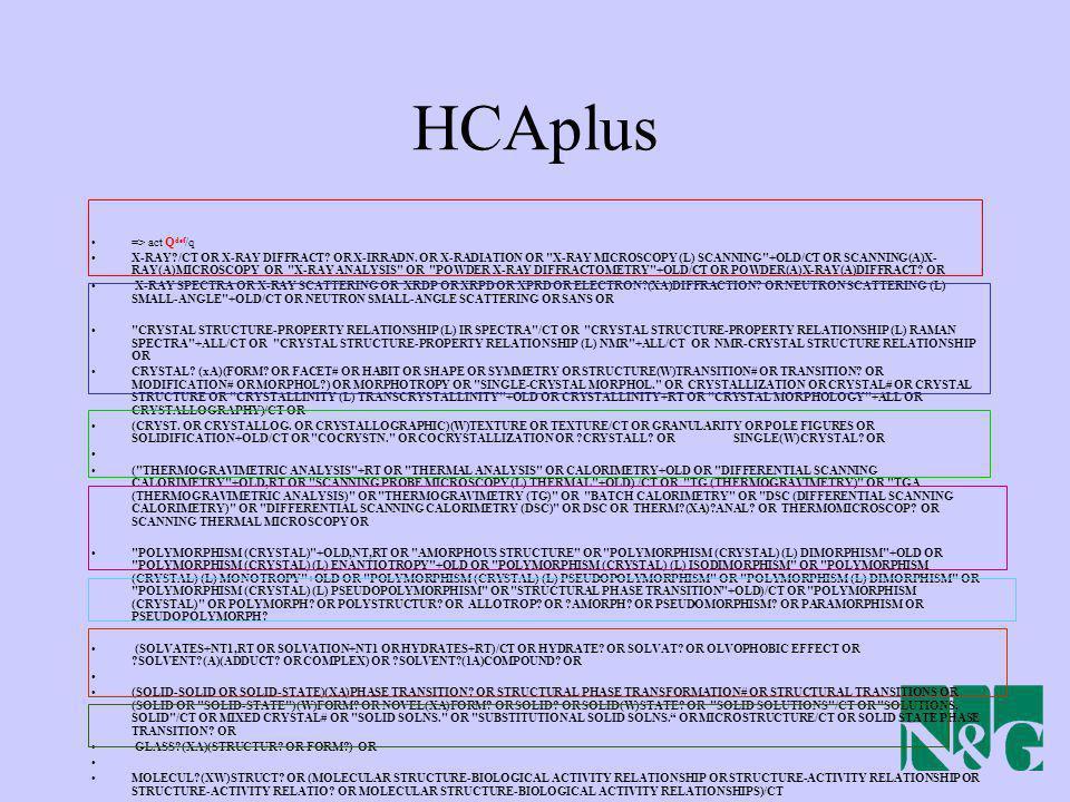 HCAplus => act Qdef/q