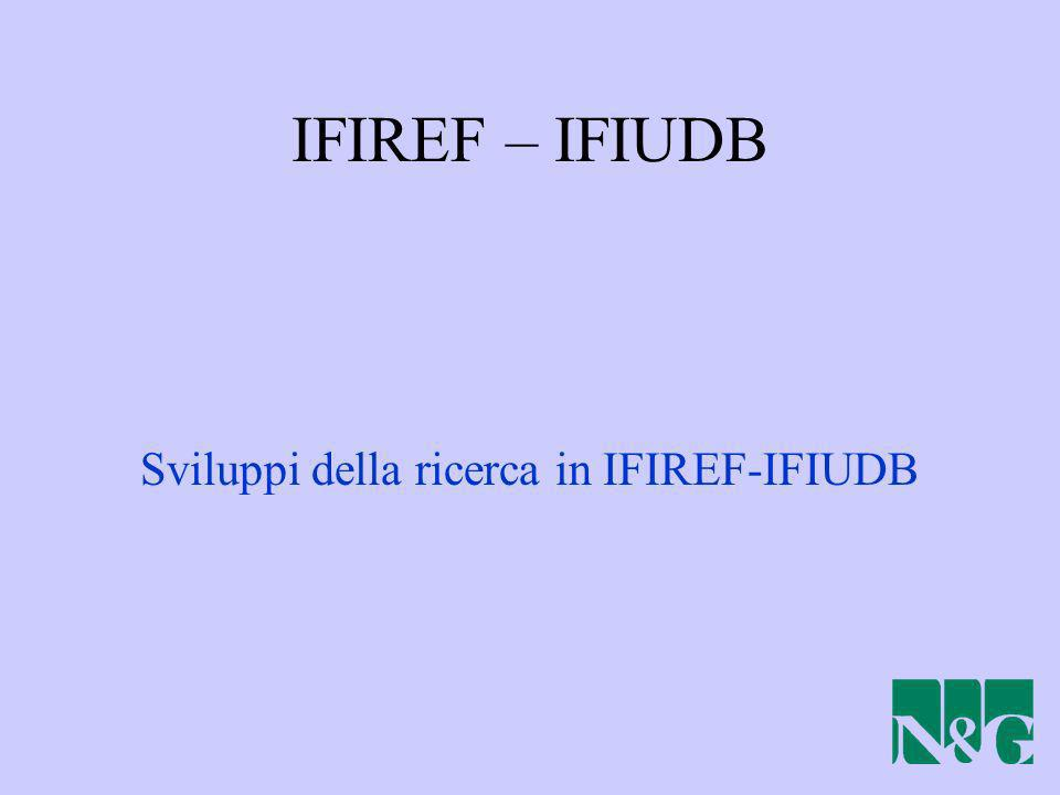 Sviluppi della ricerca in IFIREF-IFIUDB