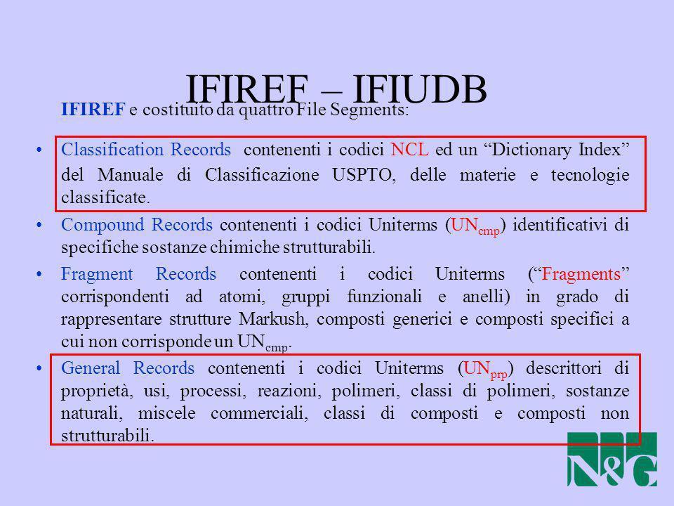 IFIREF – IFIUDB IFIREF e costituito da quattro File Segments: