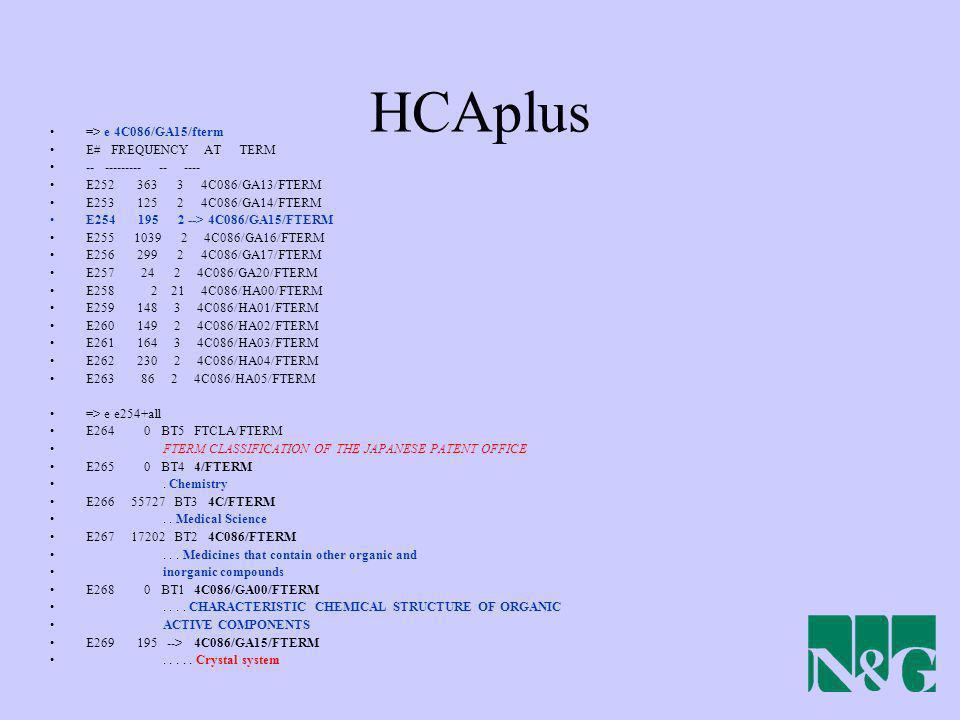 HCAplus => e 4C086/GA15/fterm E# FREQUENCY AT TERM
