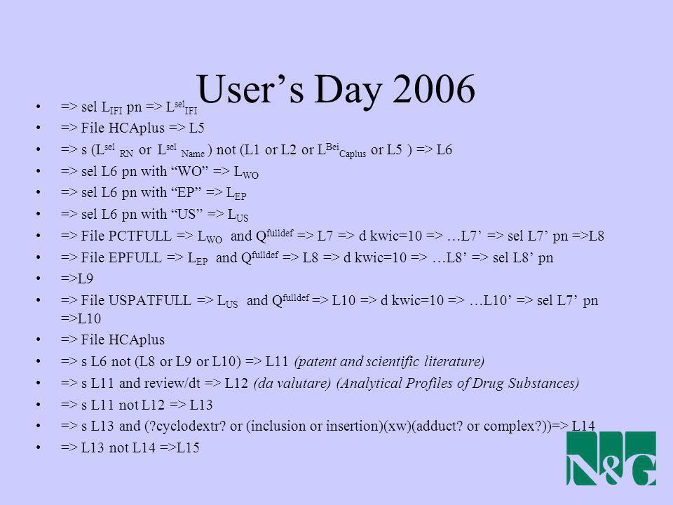 User's Day 2006 => sel LIFI pn => LselIFI
