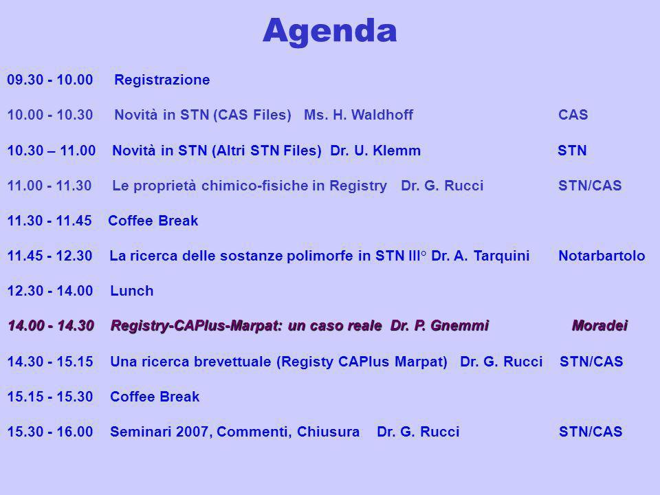 Agenda 09.30 - 10.00 Registrazione