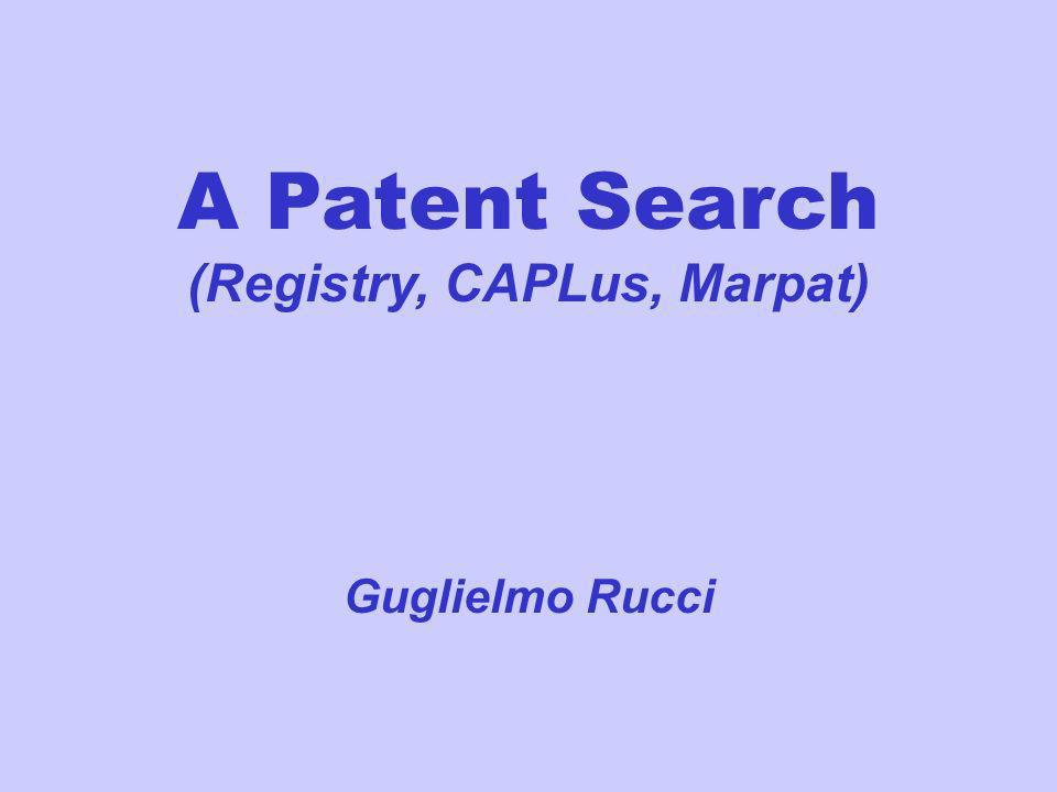 (Registry, CAPLus, Marpat)