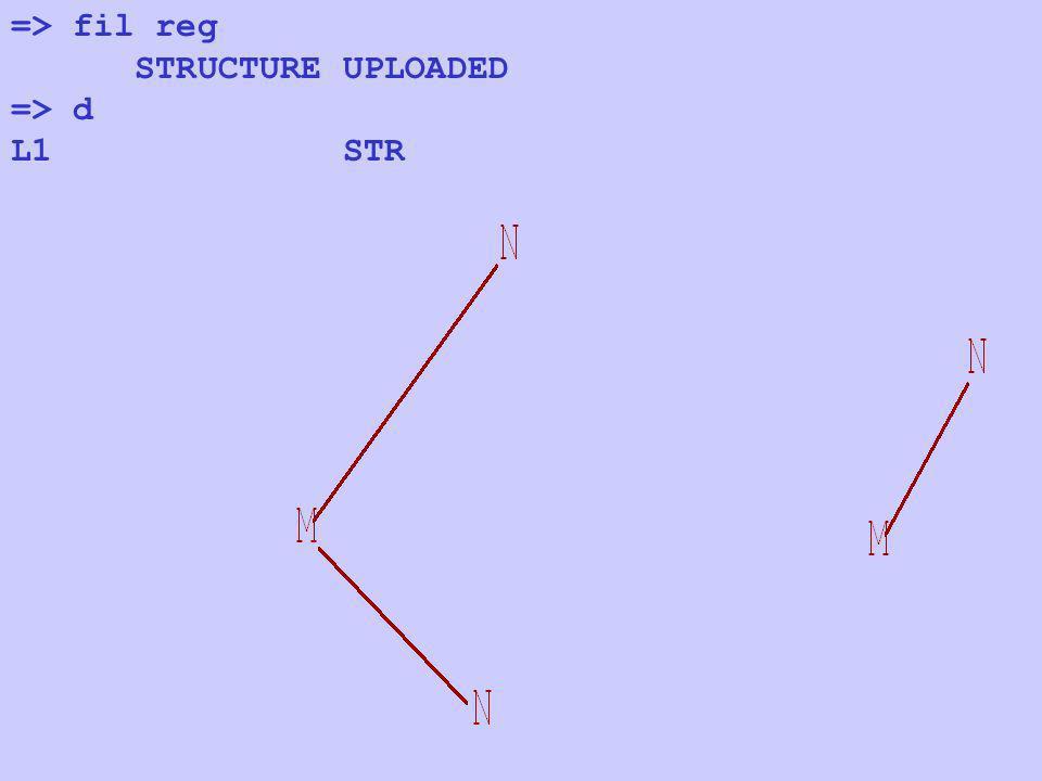 => fil reg STRUCTURE UPLOADED => d L1 STR