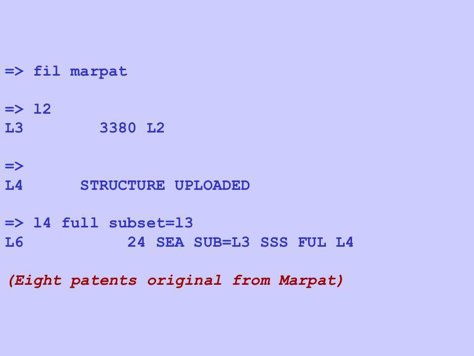 => fil marpat => l2. L3 3380 L2. => L4 STRUCTURE UPLOADED. => l4 full subset=l3.