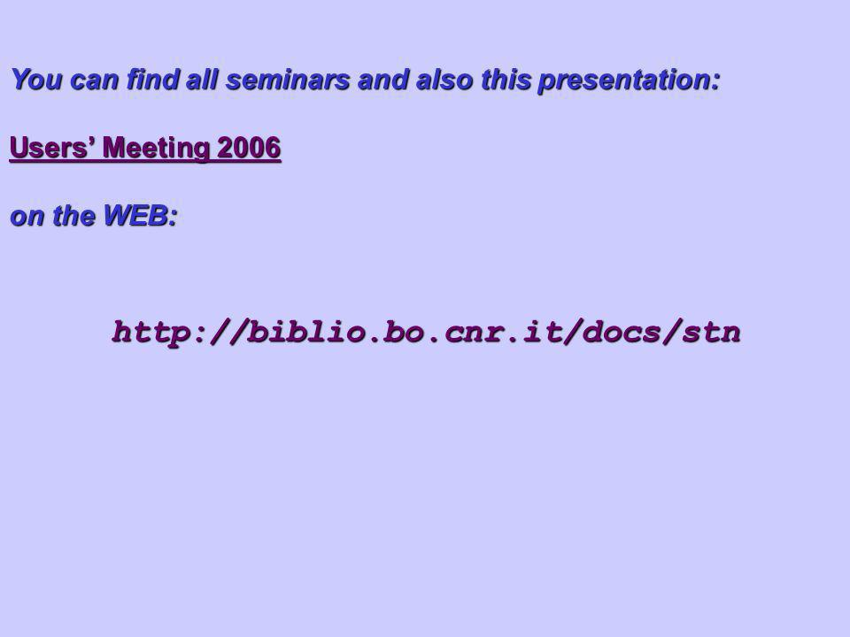 You can find all seminars and also this presentation:
