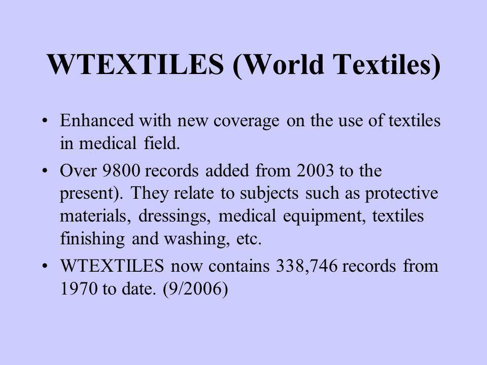 WTEXTILES (World Textiles)