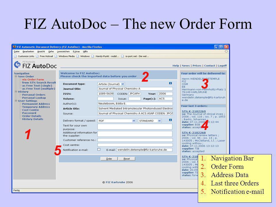 FIZ AutoDoc – The new Order Form