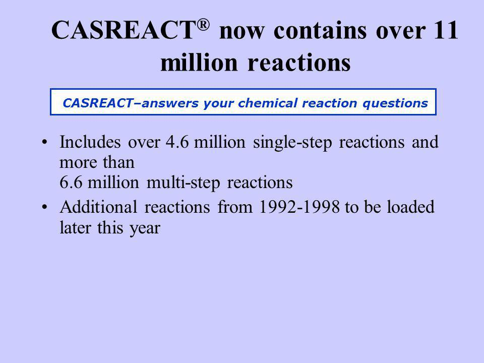CASREACT® now contains over 11 million reactions