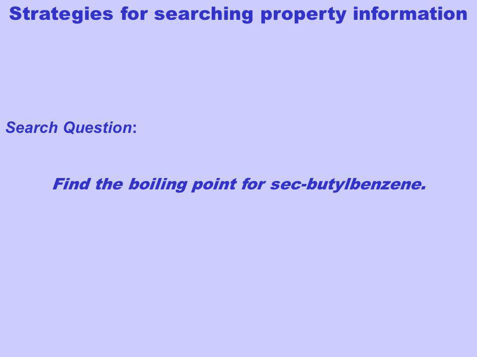 Find the boiling point for sec-butylbenzene.