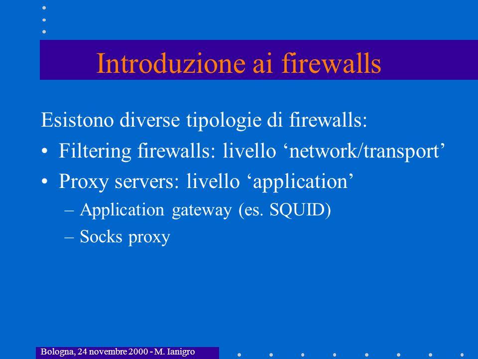 Introduzione ai firewalls