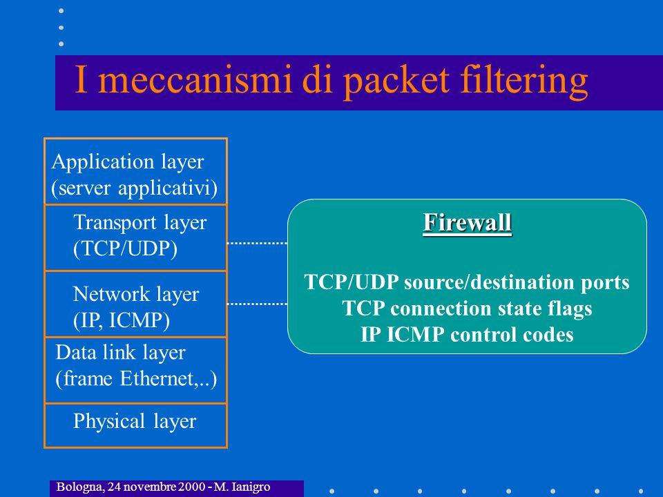 I meccanismi di packet filtering