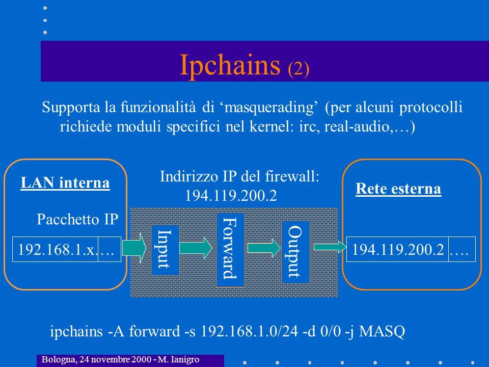 Ipchains (2) Forward Input Output