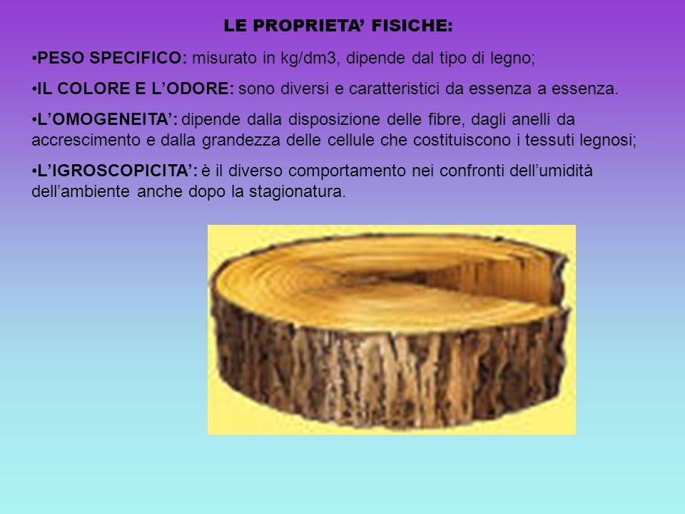 LE PROPRIETA' FISICHE: