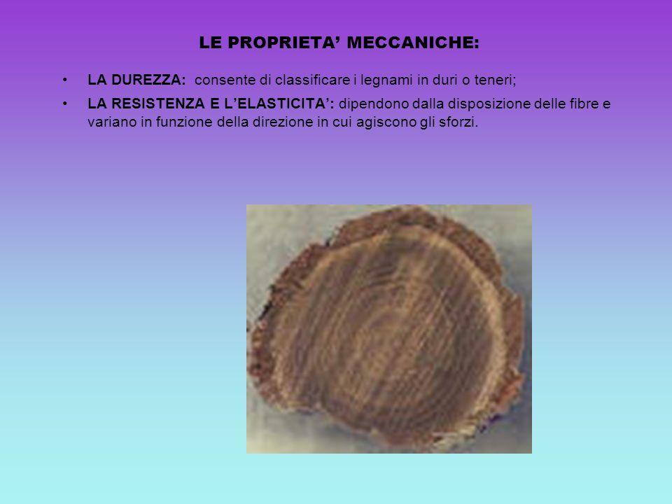 LE PROPRIETA' MECCANICHE: