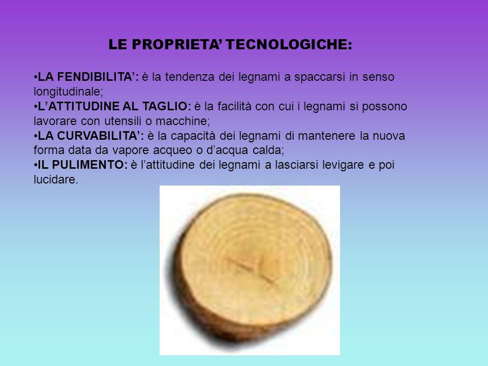 LE PROPRIETA' TECNOLOGICHE:
