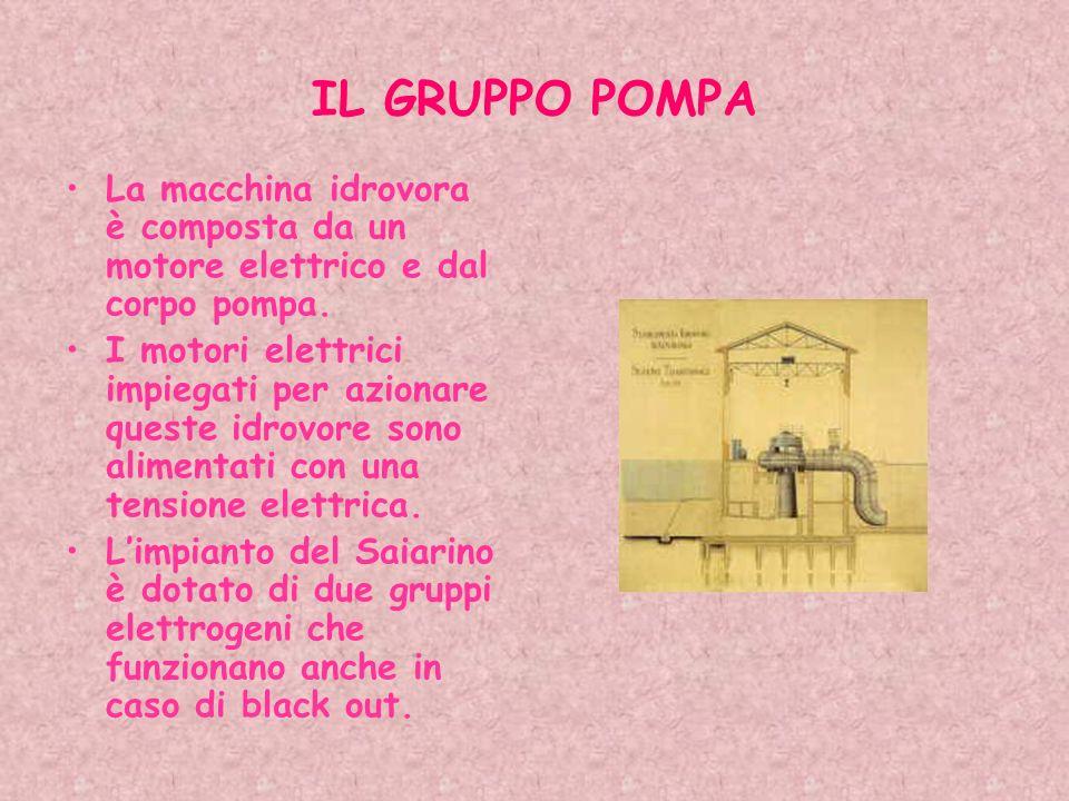 IL GRUPPO POMPA La macchina idrovora è composta da un motore elettrico e dal corpo pompa.