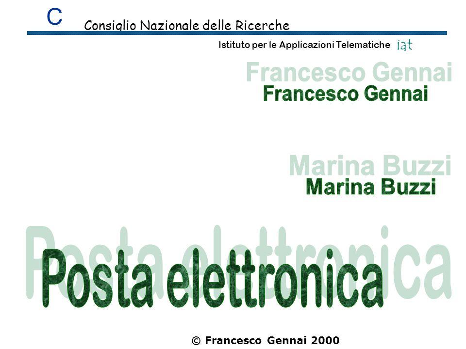 Posta elettronica C Francesco Gennai Marina Buzzi iat